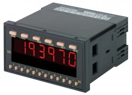 SHIMPO DT-5TS Panel Mount Tachometer with selectable inputs, 100-240 VAC Power-