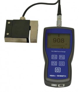 SHIMPO FG-7000L-S-20 Digital Force Gauge/Data Logger with s-beam load cell, 4500 lbs-
