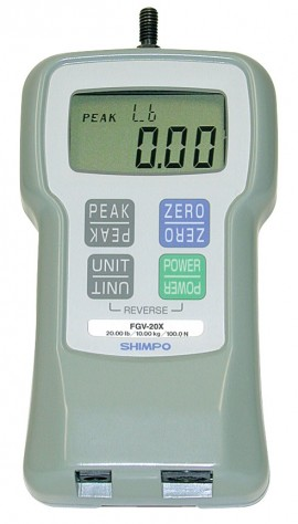 SHIMPO FGE-100XY Digital Force Gauge 100lb/50.00kg/500.0N-